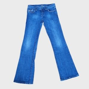 ARMANI EXCHANGE GREAT COND. BOOT CUT BLUE JEANS